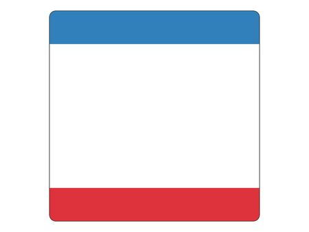 Square Flat Flag of Republic of Crimea