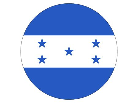 Round Flat Flag of Honduras