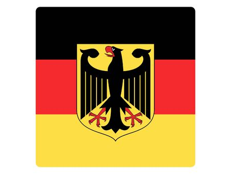 Square Flat Flag of Germany