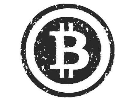 Simple Silhouette Drawing of a Bitcoin Symbol