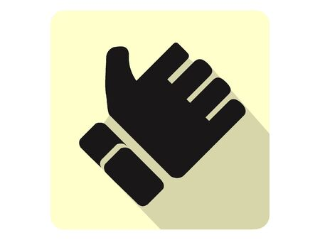 3D Silhouette Illustration of a Snow Protective Glove Icon Banque d'images - 135873366