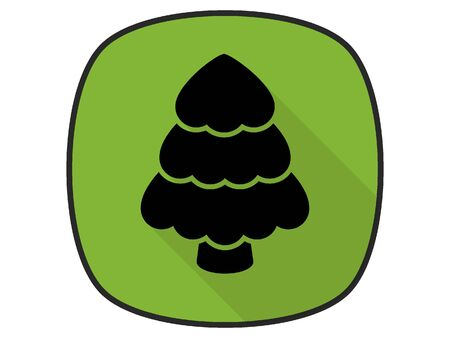 3D Silhouette Illustration of a Christmas Tree Icon Banque d'images - 135917742