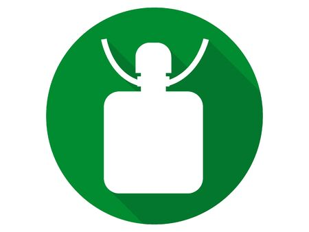 3D Silhouette Illustration of a Mountaineering Flask Icon 向量圖像