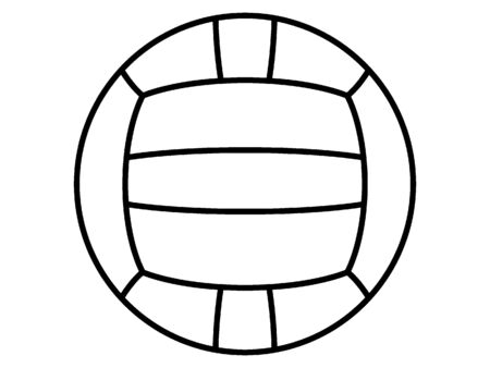 Simplified Black Silhouette Icon of a Water-polo Ball