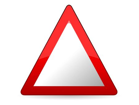 3D Vector Illustration of a Traffic Sign for an Empty Triangle Warning