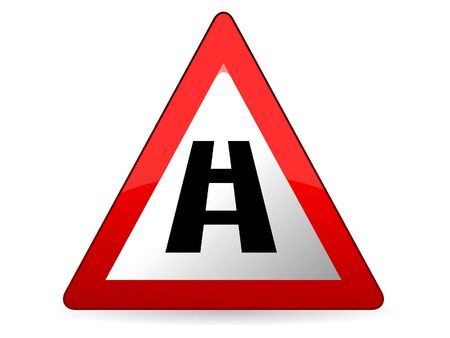 Vector Illustration of a Traffic Sign for a Highway Ahead Warning Stock Illustratie