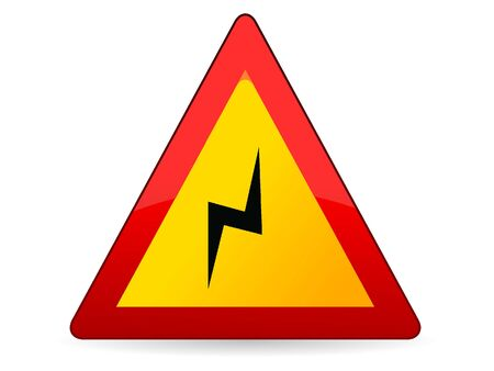 Vector Illustration of a 3D Traffic Sign for a Double curve, first at right Warning 矢量图像