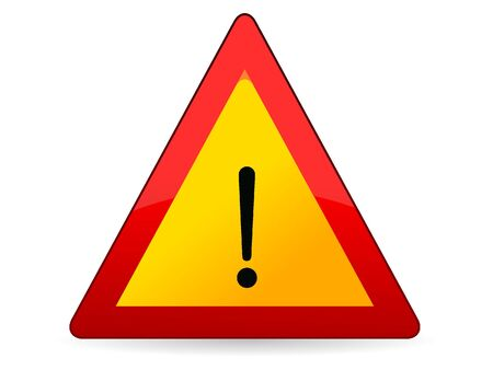 3D Vector Illustration of a Traffic Sign for Other hazards Warning