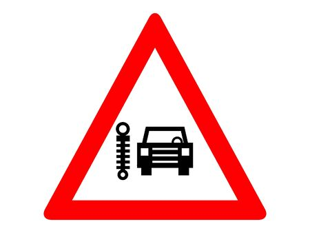 Vector Illustration of a Traffic Sign for a Facilities Ahead Warning Stock Illustratie
