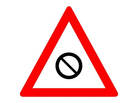 Vector Illustration of a Traffic Sign for a Closed road ahead Warning Stock Illustratie