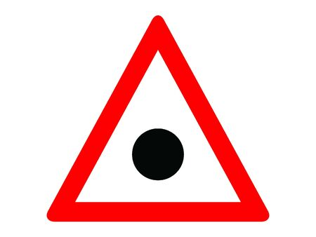 Vector Illustration of a Traffic Sign for an Accident blackspot Warning