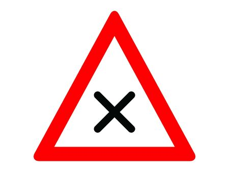 Vector Illustration of a Traffic Sign for a Intersection with right-priority rule Warning