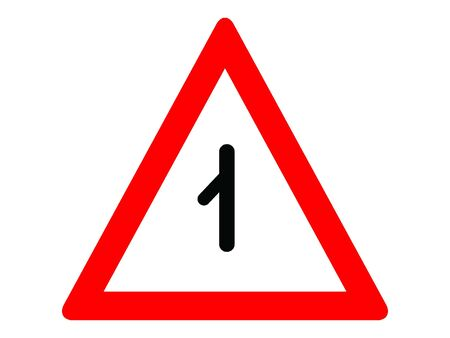 Vector Illustration of a Traffic Sign for a Merging traffic from left Warning