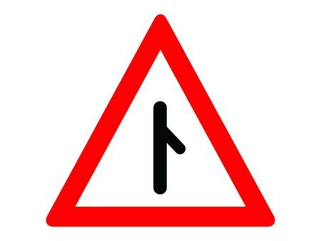 Vector Illustration of a Traffic Sign for a Merging traffic from right Warning