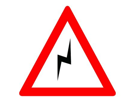 Vector Illustration of a Traffic Sign for a Double curve, first at right Warning