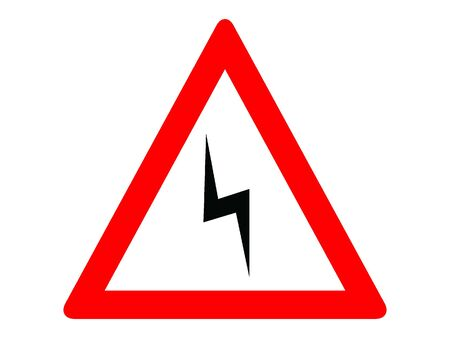 Vector Illustration of a Traffic Sign for a Double curve, first at left Warning