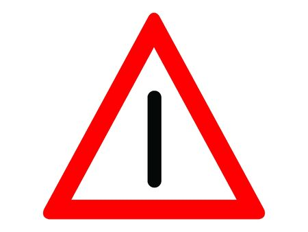 Vector Illustration of a Traffic Sign for a No intersection Warning