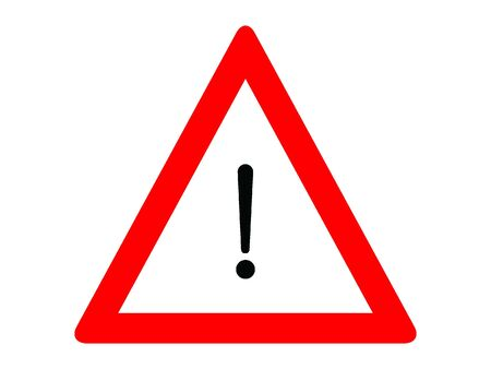 Vector Illustration of a Traffic Sign for a Other hazards Warning