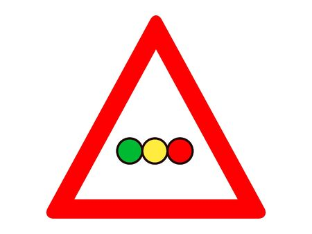 Vector Illustration of a Traffic Sign for a Horizontal traffic light Warning