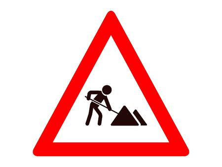 Vector Illustration of a Traffic Sign for a Roadworks Warning