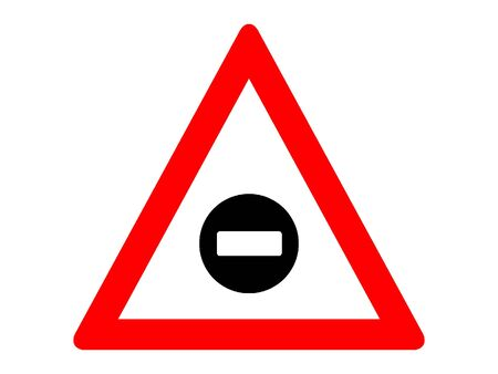 Vector Illustration of a Traffic Sign for a No entry ahead Warning Stock Illustratie