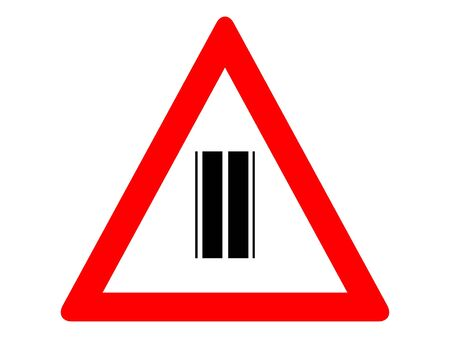 Vector Illustration of a Traffic Sign for a No Junction Ahead Warning