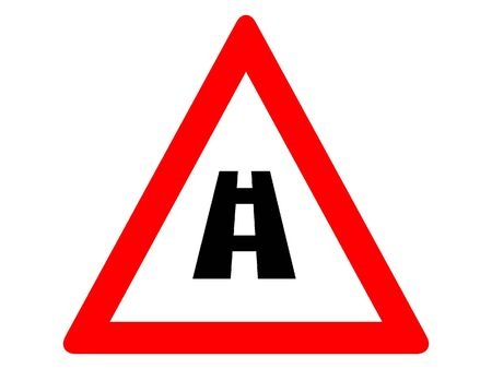 Vector Illustration of a Traffic Sign for a No Junction Warning