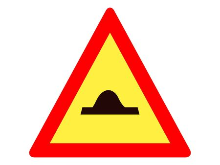 Vector Illustration of a Traffic Sign for a Traffic-calming bumps Warning