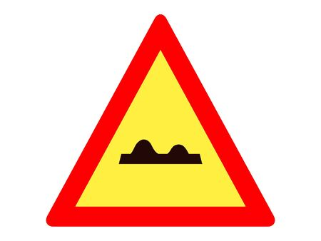 Vector Illustration of a Traffic Sign for a Bumpy road Warning