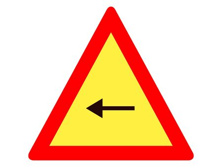 Vector Illustration of a Traffic Sign for a Left Turn Warning