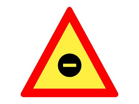 Vector Illustration of a Traffic Sign for a Closed Road Warning