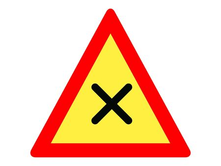 Vector Illustration of a Traffic Sign for an Intersection with Right-priority Rule Warning