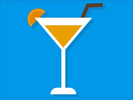 Simple 3D Illustration of a Beach Martini Cocktail