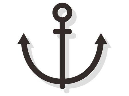 Simple 3D Illustration of an Anchor 向量圖像