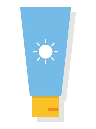 Simple 3D Illustration of a Sunscreen Illustration
