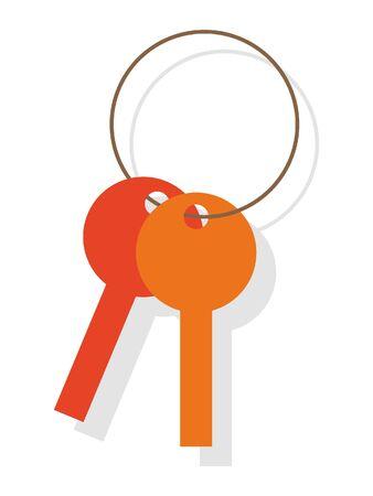 Simple 3D Illustration of a Key Chain Illusztráció