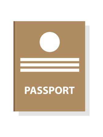 Simple 3D Illustration of a Passport