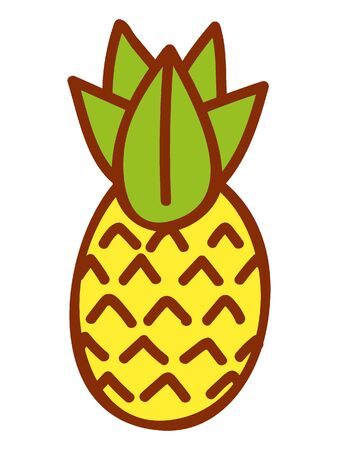 Simplified Silhouette of a Pineapple