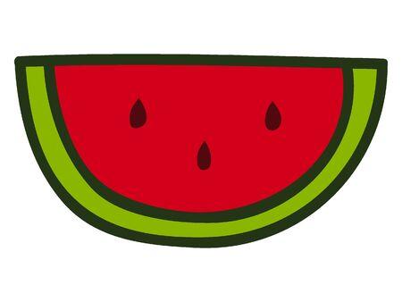 Simplified Silhouette of a Watermelon Illusztráció