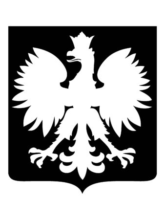 Black and White Silhouette of a Generic Eagle Coat of Arms