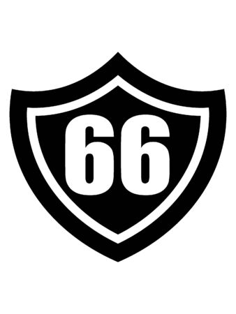 Black and White Silhouette of a Route 66