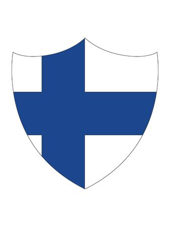 Shield Shaped Flag of Finland