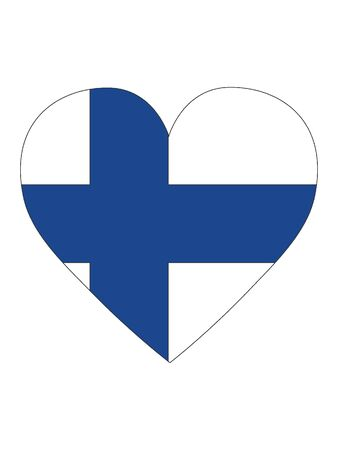 Heart Shaped Flag of Finland