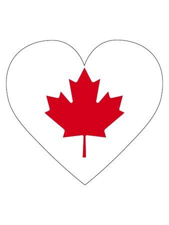 Heart Shaped Flag of Canada
