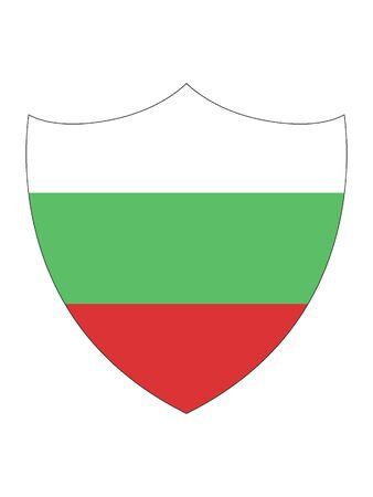 Shield Shaped Flag of Bulgaria