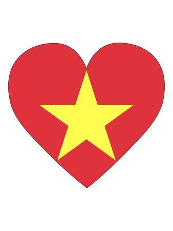 Heart Shaped Flag of Vietnam