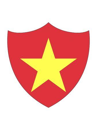 Shield Shaped Flag of Vietnam Иллюстрация