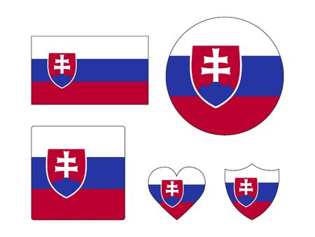 Set of Various Shapes of the Flag of Slovakia