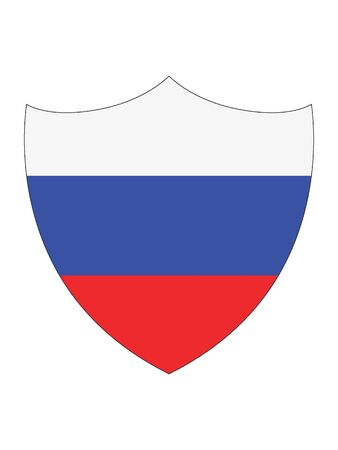 Shield Shaped Flag of Russia