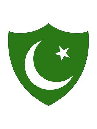 Shield Shaped Flag of Pakistan